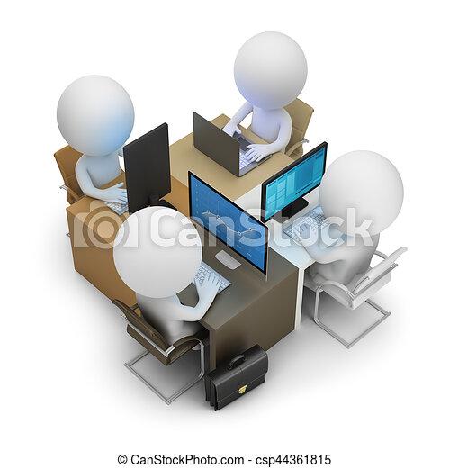 3d kleine Menschen - Entwicklungsteam - csp44361815