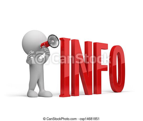 3D gibt Informationen - csp14681851