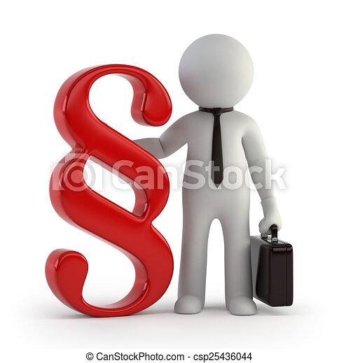 3d kleine Leute - Anwalt. - csp25436044