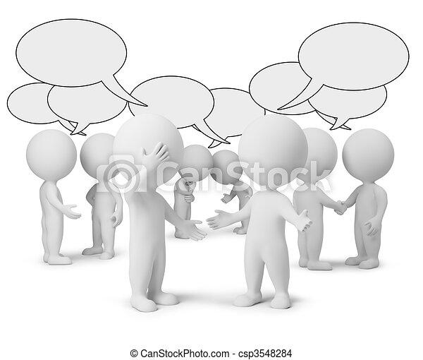 3d kleine Leute - Diskussion - csp3548284