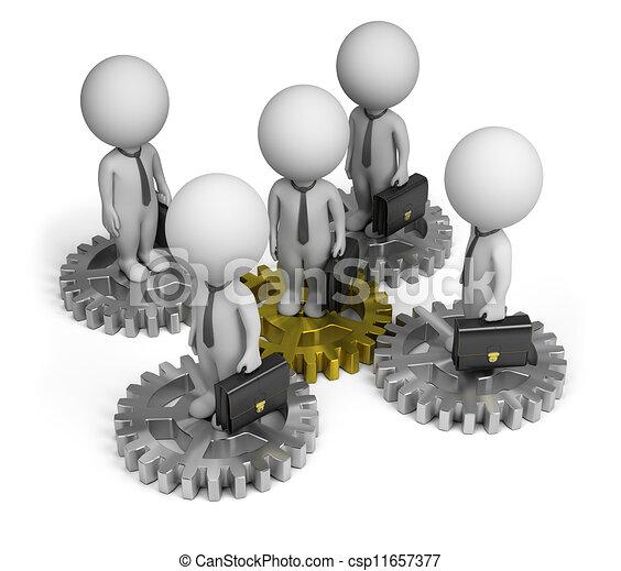3d kleine Leute - Geschäftsteam - csp11657377