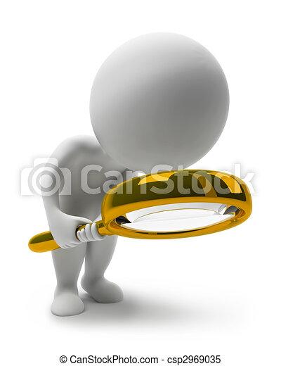 3D kleine Leute-laut - csp2969035