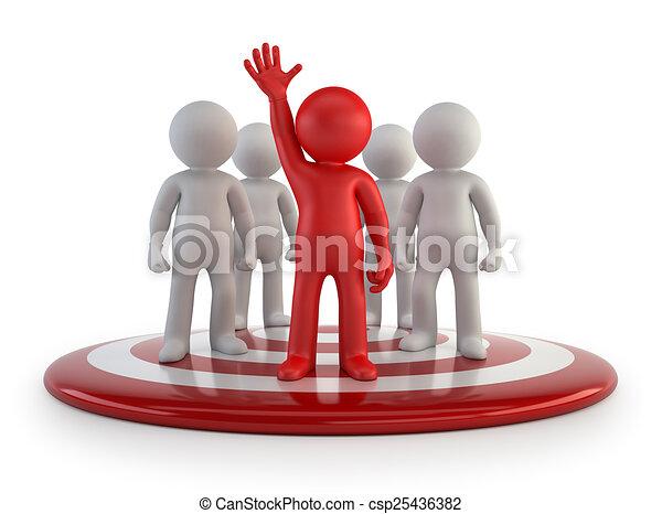 3d kleine Leute - Team Leader. - csp25436382