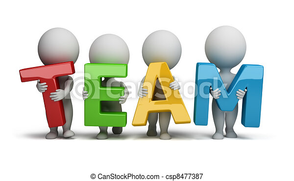 3d kleine Leute - Team - csp8477387