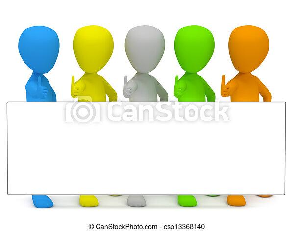 3d kleine Leute - Werbung. - csp13368140