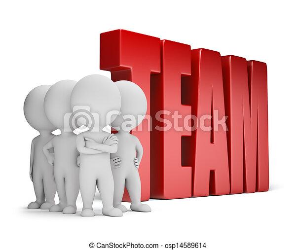 3d kleine Leute - zuverlässiges Team - csp14589614