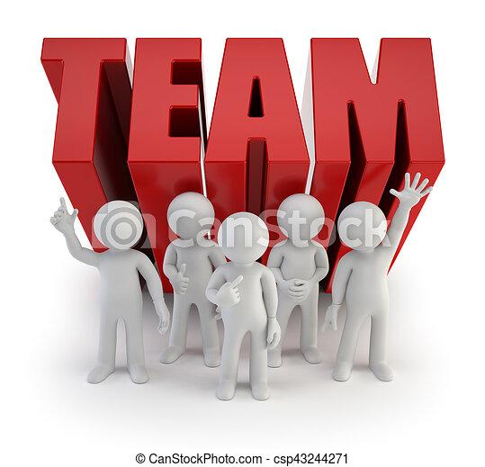 3d kleine Leute - zuverlässiges Team. - csp43244271