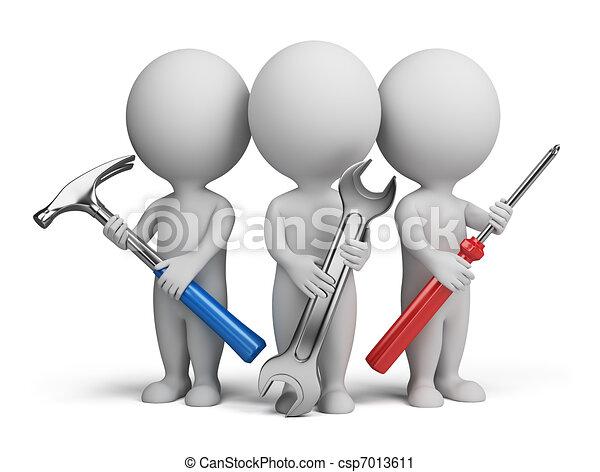 3d kleine Menschen - Reparaturen - csp7013611