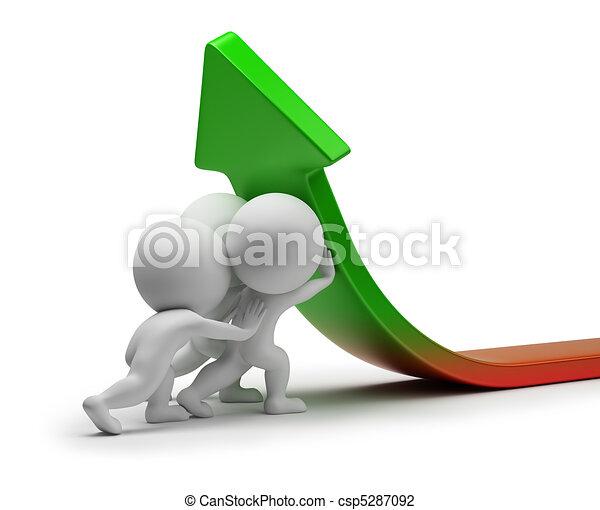 3d kleine Menschen - statistische Verbesserung - csp5287092