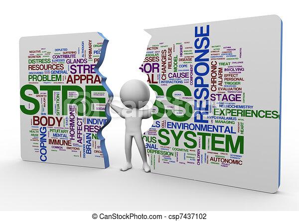 3d Mann und Stresswort - csp7437102