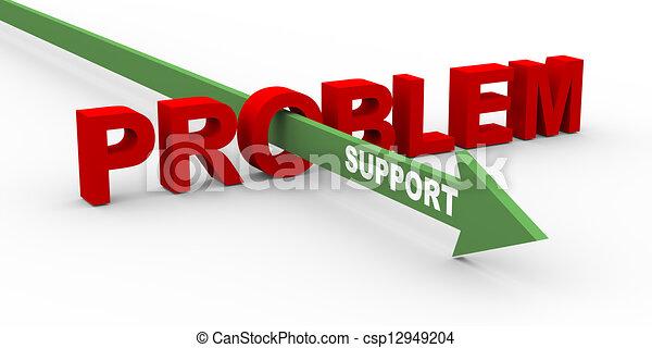 3D-Problem und Unterstützung - csp12949204