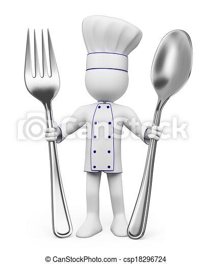 3D-Weiße. Chef - csp18296724