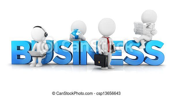 3d-weiße Menschen-Geschäftskonzept - csp13656643