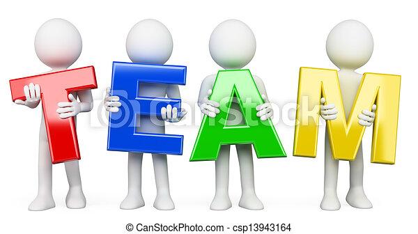 3D Weiße. Team - csp13943164