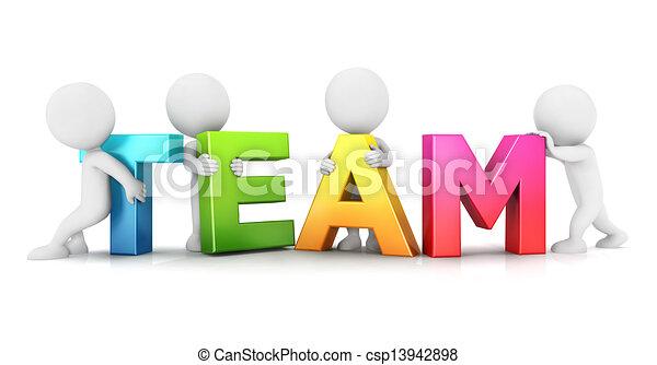 3d Weiße Team - csp13942898