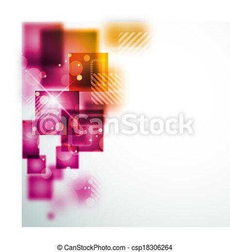 Abstract Hintergrund mit quadratischen Formen. - csp18306264