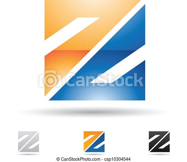 Abstract Icon für Buchstabe Z. - csp10304544