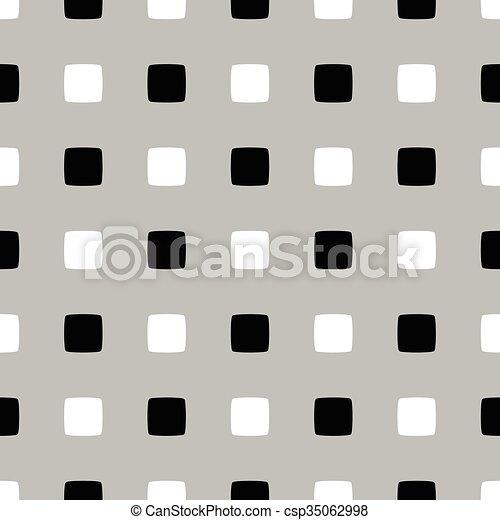 Abstract monochromer Hintergrund, Muster. Nahelos wiederholbar. Vector. - csp35062998