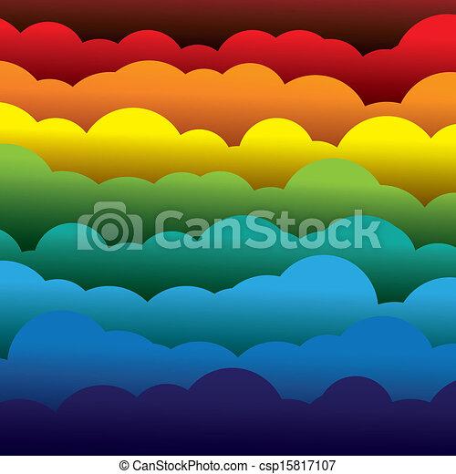 abstrakt, orange, farben, papier, (backdrop), schichten, enthält, -, gelber , graphic., 3d, blaues, bunte, gebildet, abbildung, hintergrund, gebrauchend, rotes , wolkenhimmel, mögen, dieser, vektor, grün - csp15817107