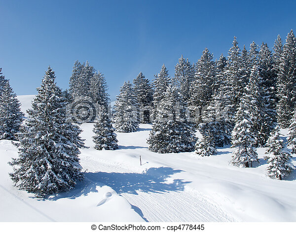 alps, winter - csp4778445