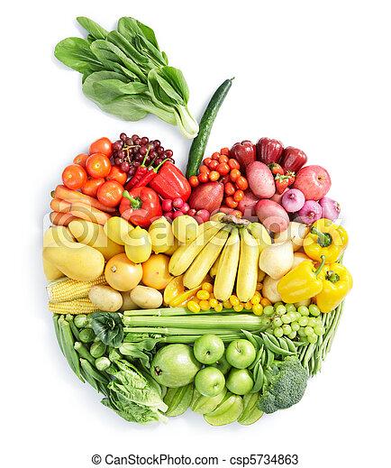 Apfel: gesundes Essen - csp5734863