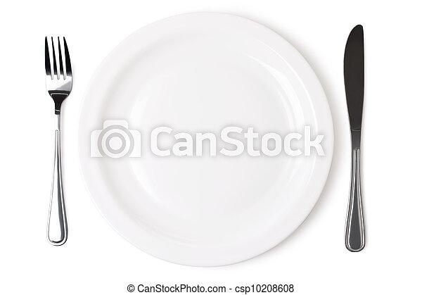 Ein Set Küchenobjekt auf weißem Hintergrund. Die Datei beinhaltet einen ausgezeichneten Weg - csp10208608