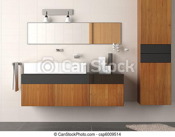 badezimmer, modern, detail - csp6009514