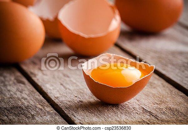 Frische Eier - csp23536830