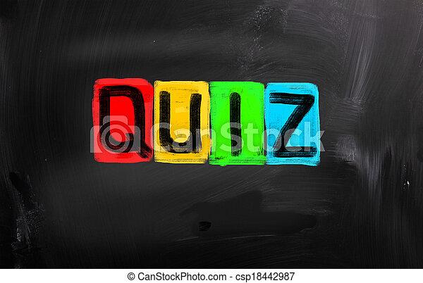 begriff, quiz - csp18442987