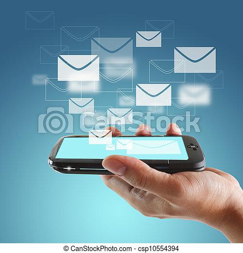 berühren, beweglich, schirm, telefon - csp10554394