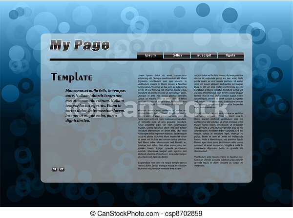 Blaue Webseite - csp8702859