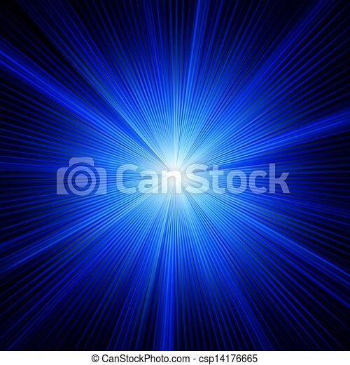 blaues, farbe, eps, burst., design, 8 - csp14176665