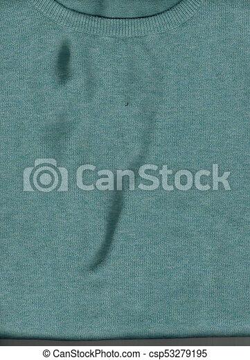blaues grün, beschaffenheit, hintergrund, stoff - csp53279195