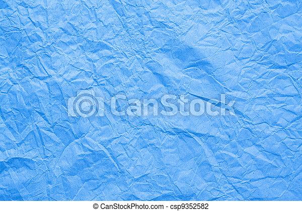Blaues, runzliges Papier - csp9352582