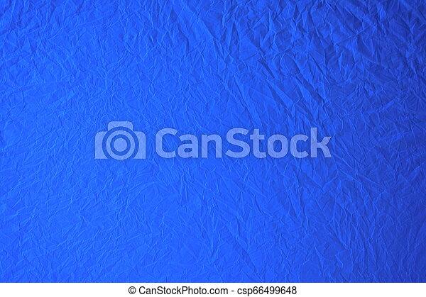 Blauer Plastik Hintergrund - csp66499648