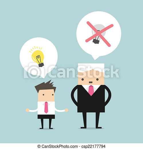 Boss tötet die Ideen. - csp22177794