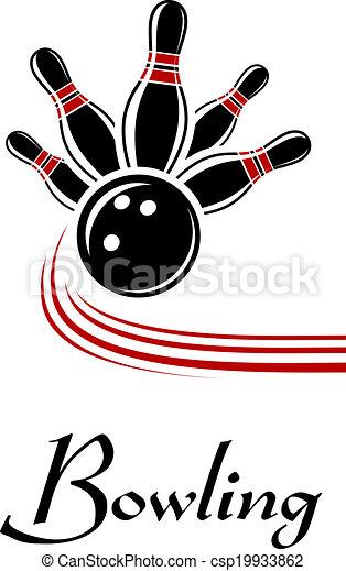 Bowling-Sportzeichen. - csp19933862
