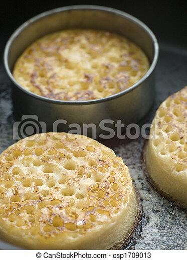 braten, crumpets, kochen, pfanne - csp1709013