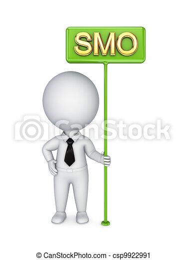 3d kleine Person mit einer Bunner-SMO. - csp9922991