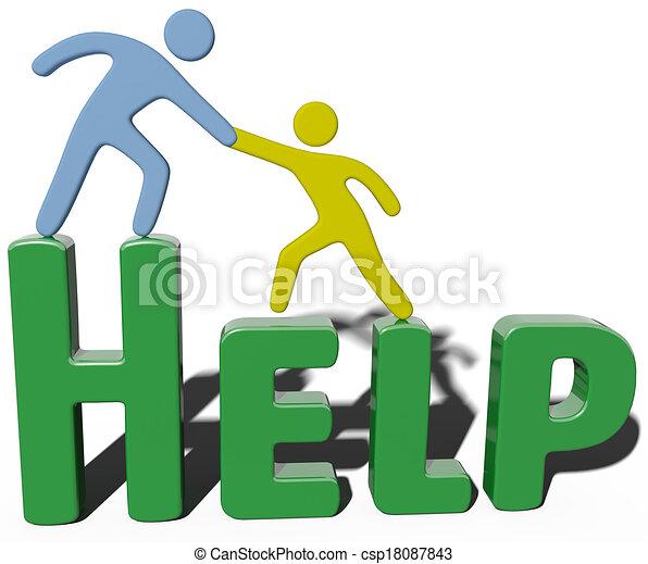 Business-Conulting-Unterstützung hilft Menschen. - csp18087843