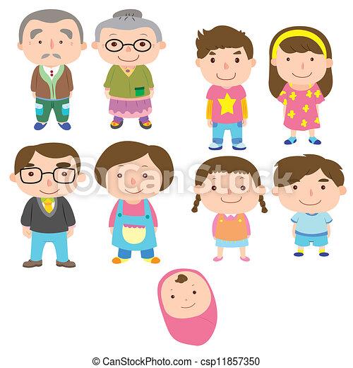 Cartoon-Familien-Ikone - csp11857350