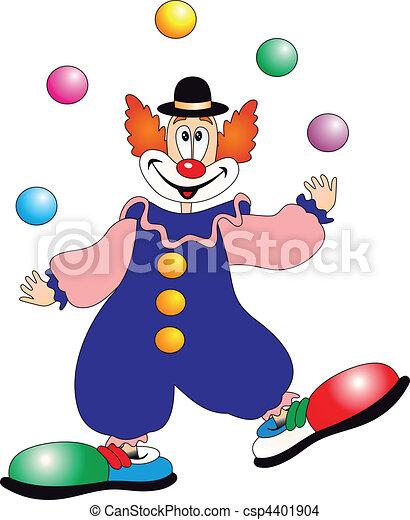 Clown Vektor - csp4401904