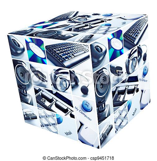 Technologiekollage. - csp9451718