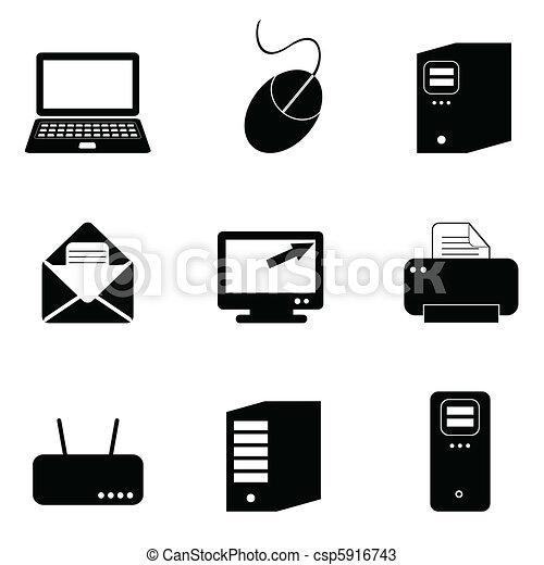 Computer- und Technologie-Icons. - csp5916743