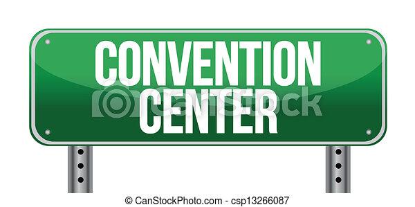 Convention Center Road-Schild - csp13266087