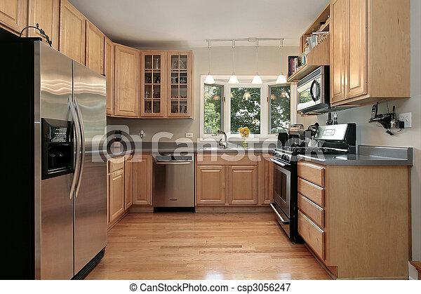 Küche im Luxushaus - csp3056247