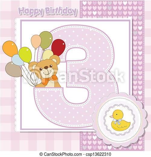 Der dritte Jahrestag der Geburtstagskarte - csp13622310