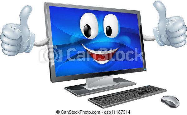 Desktop-Computer-Maskottchen. - csp11187314