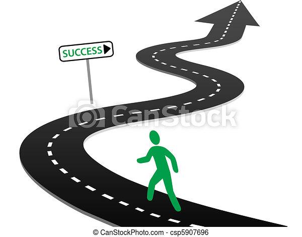 Die Initiative startet die Autobahnkurven zum Erfolg - csp5907696