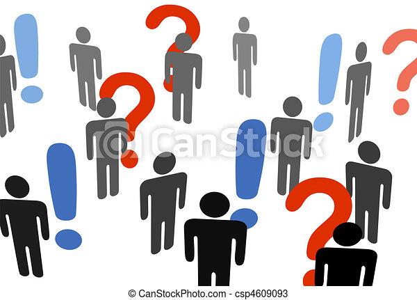 Die Leute suchen nach Ausrufezeichen - csp4609093